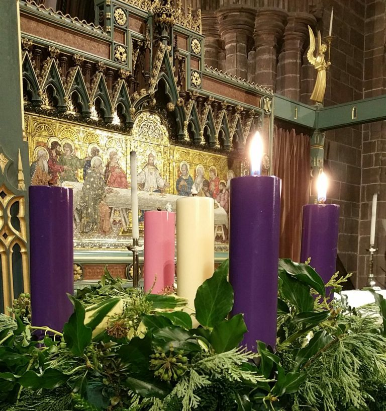 Advent Wreath at Chester Cathedral